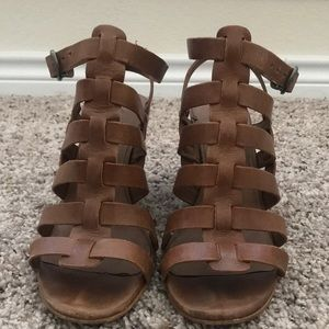 Lucky Brand Strappy leather gladiator heels